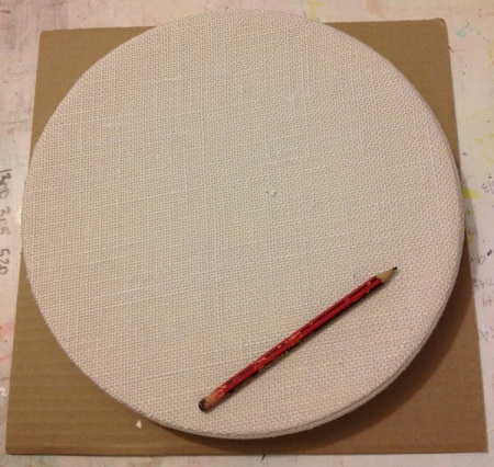 Stencil & Cut the outside circle