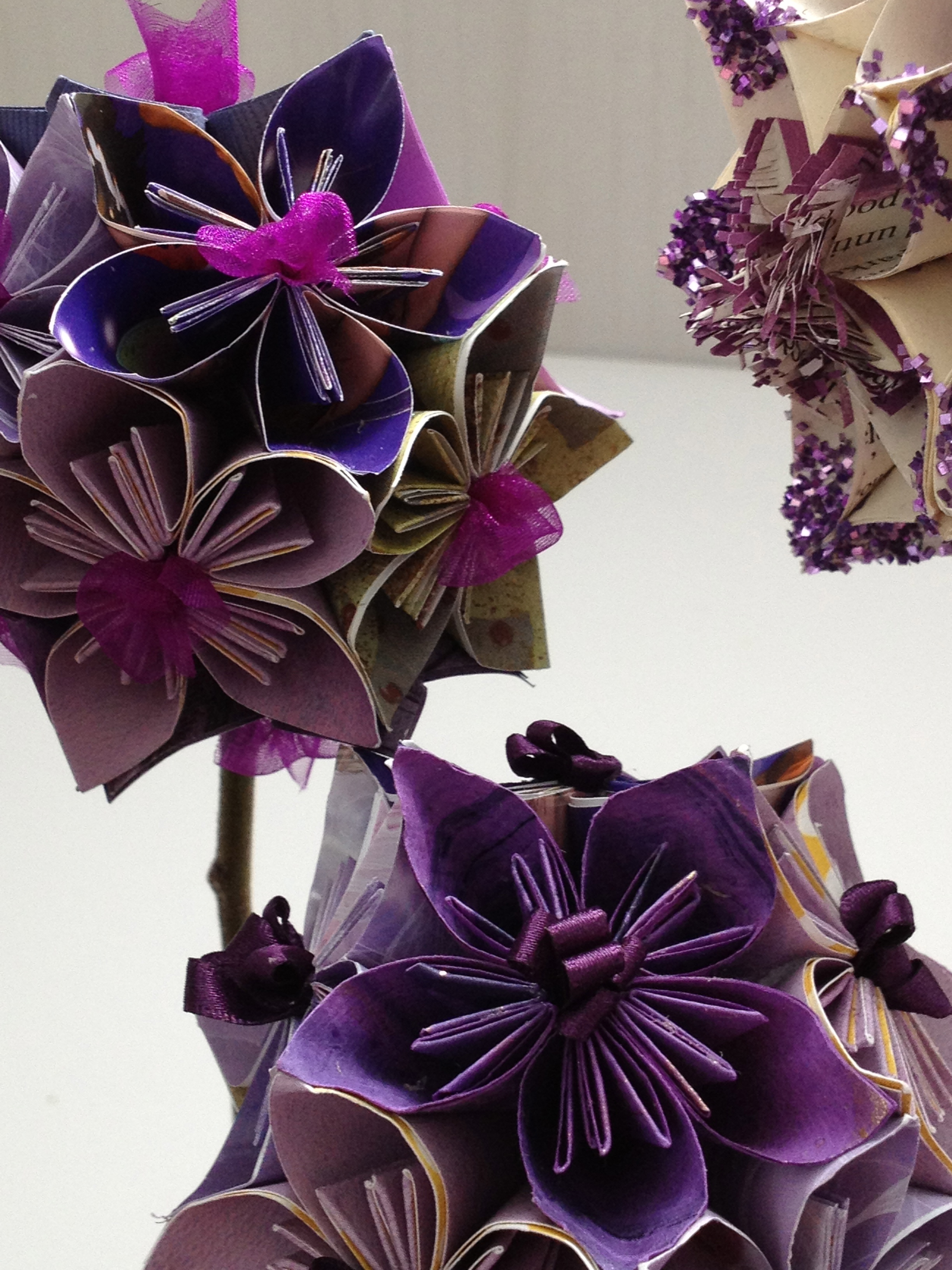 Christmas purple paper house origami paper flower ball tuesday 31st january friday 17th january mightylinksfo