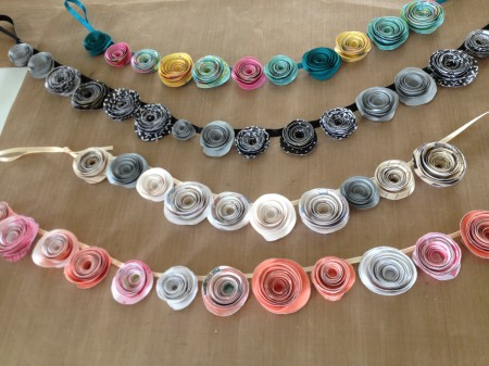 Swirl Flower Garland (or Topiary) . Wednesday 15th January Tuesday 28th January